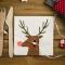16 Petites Serviettes Renne Joli Noël images:#1