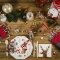16 Petites Serviettes Renne Joli Noël images:#2