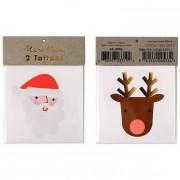2 Tatouages Père Noel et Renne