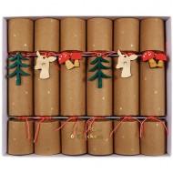 6 Petits Crackers Faon dans la Forêt (19 cm)