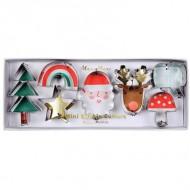 7 Mini Emporte Pièces de Noël (3,5 à 6,5 cm)
