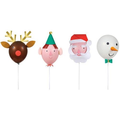 Kit 4 Ballons de Noël à Décorer