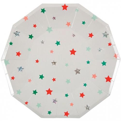 8 Assiettes Noël Star