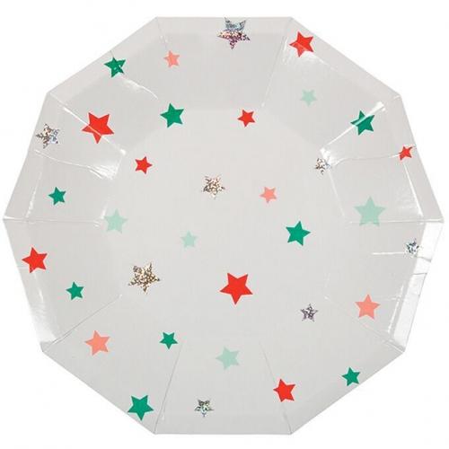 8 Petites Assiettes Noël Star