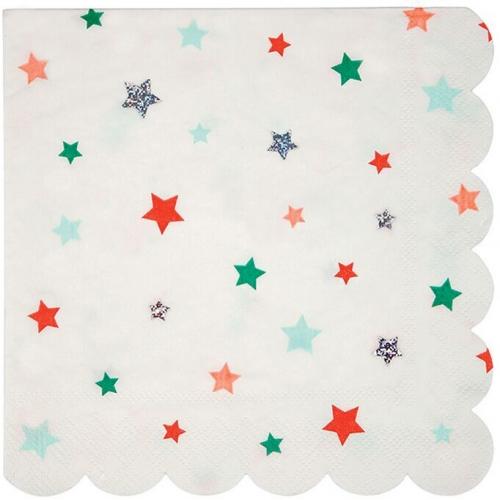 16 Serviettes Noël Star