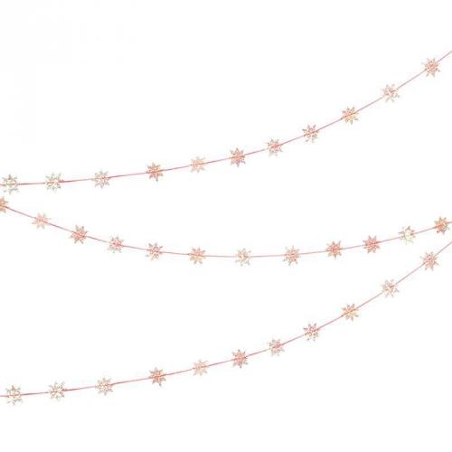 Bobine Guirlande Mini Etoiles Rose Iridescent (4,5 cm)