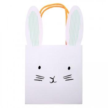 8 Sacs Lapin Bunny (21 cm) - Papier