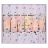 6 Petits Crackers Confettis Etoiles (17 cm)
