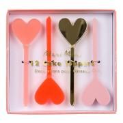 12 Pics Love Coeur - Plastique