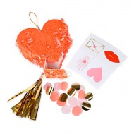 3 Mini Pinata Love Coeur (8 cm) - Garnies