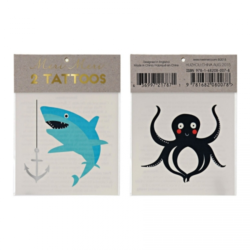 2 Tatouages Pieuvre / Requin