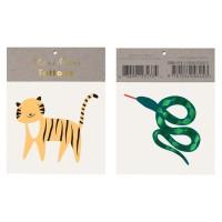 Contient : 1 x 2 Tatouages Serpent / Tigre