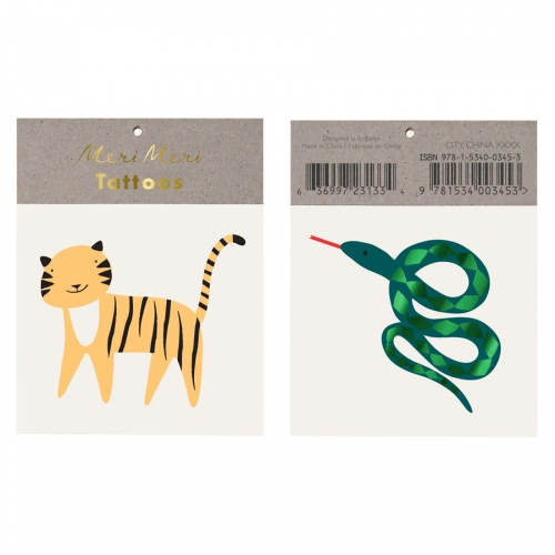 2 Tatouages Serpent / Tigre