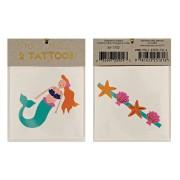 2 Tatouages Sirène / Coquillages
