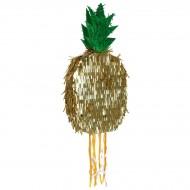 Pull Pinata Ananas Or (60 cm)