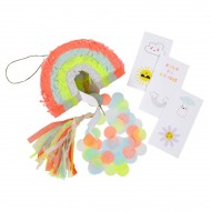 3 Mini Pinata Déco/Cadeau Magic Rainbow (10 cm)