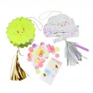 2 Mini Pinata Cadeau Soleil et Nuage (10 cm)
