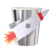 8 Gobelets Fusée Espace
