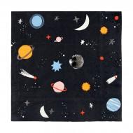 20 Serviettes Voyage dans l'Espace