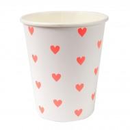 12 Gobelets Love Coeur Confettis