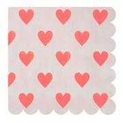 20 Serviettes Love Coeur Confettis