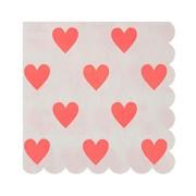 20 Petites Serviettes Love Coeur Confettis