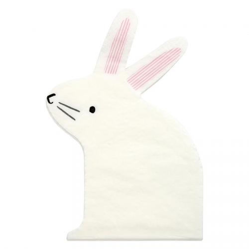 20 Serviettes Lapin Bunny