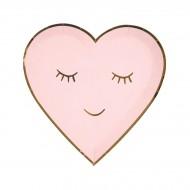 8 Petites Assiettes Love Coeur