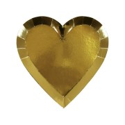 8 Petites Assiettes Love Coeur Or