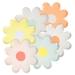 12 Assiettes Fleurs Pastels. n°1