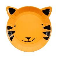 Contient : 1 x 12 Petites Assiettes Tigre Jungle