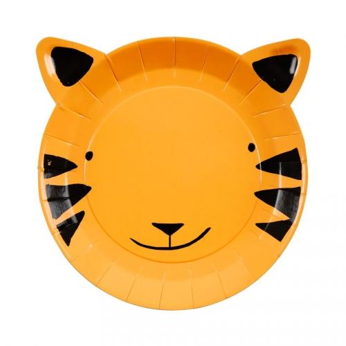 12 Petites Assiettes Tigre Jungle