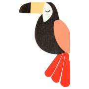 20 Serviettes Toucan Jungle (19 cm)
