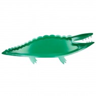 4 Maxi Assiettes Crocodile Jungle (53 cm)