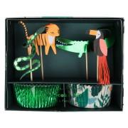 Kit 24 Caissettes et Déco Animaux Jungle