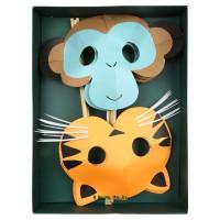 Contient : 1 x 8 Masques Animaux Jungle