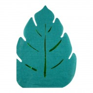 16 Serviettes Feuilles Jungle (18,5 cm)