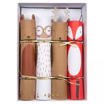 8 Maxi Crackers Animaux de la Forêt (24 cm)