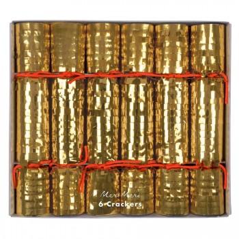 6 Crackers Disco Or (20 cm)