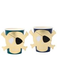 Contient : 1 x 8 Gobelets Golden Pirate