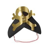Contient : 1 x 8 Bandeaux Chapeaux Golden Pirate