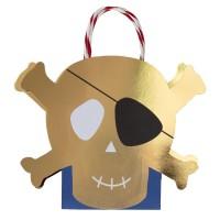 Contient : 1 x 8 Sacs Cadeaux Golden Pirate
