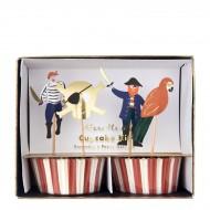 Kit 24 Caissettes et Déco Golden Pirate