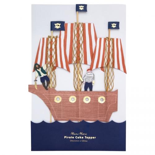 Maxi Déco de Gâteau Golden Pirate (28 cm)