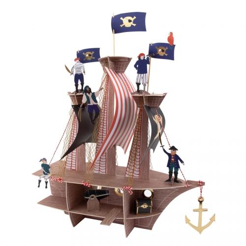 Centre de Table Bateau - Golden Pirate