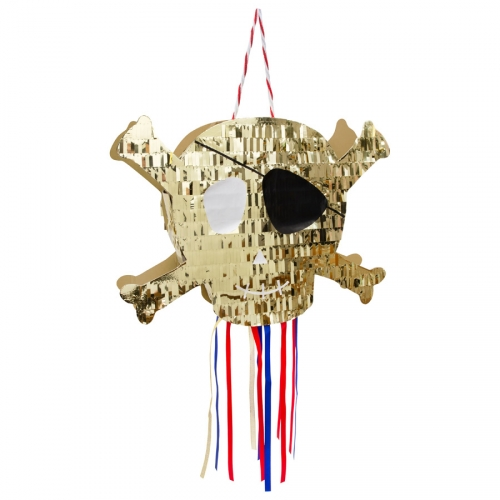 Pull Pinata Tête de Mort - Golden Pirate