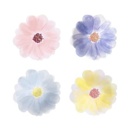 8 Petites Assiettes Fleurs de Printemps (19,5 cm)