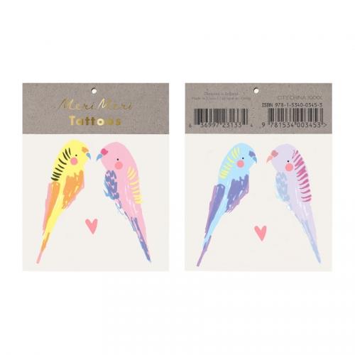 2 Tatouages Perruches Amoureuses