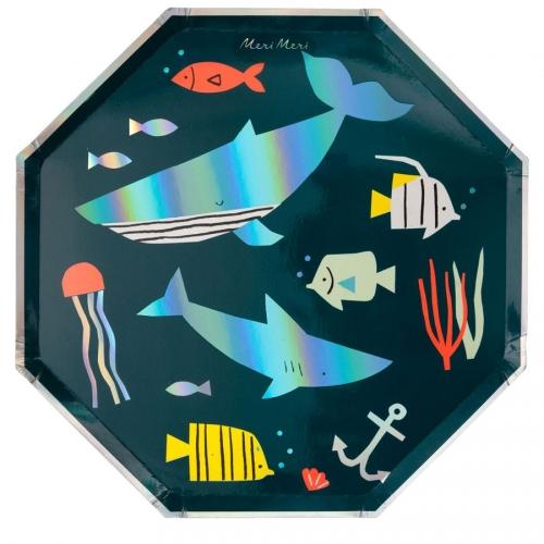 8 Grandes Assiettes Sous la Mer