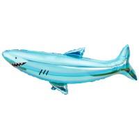 Contient : 1 x Ballon Géant Requin (106 cm) - Sous la Mer